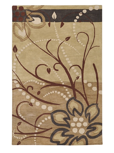 Surya Athena ATH-5006 Transitional Hand Tufted 100% Wool Dark Khaki 2' x 4' Hearth Floral Accent - To Wayfair India Shipping