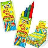 Wax Crayons Kids Party Bag Fillers 4 in pack, 10 packs supplied
