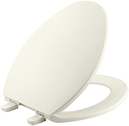 Surprising Kohler K 4774 96 Brevia Elongated Toilet Seat With Quick Release Hinges And Quick Attach Hardware For Easy Clean In Biscuit Beatyapartments Chair Design Images Beatyapartmentscom