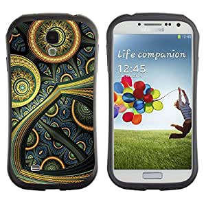 Suave TPU GEL Carcasa Funda Silicona Blando Estuche Caso de protección (para) Samsung Galaxy S4 I9500 / CECELL Phone case / / Colorful Oriental Futuristic Art Painting Wallpaper /