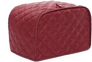 Fellibay Toaster Cover Polyester Toaster Holder Dust Fingerprint Protection for 4 Slice Toaster (Red)