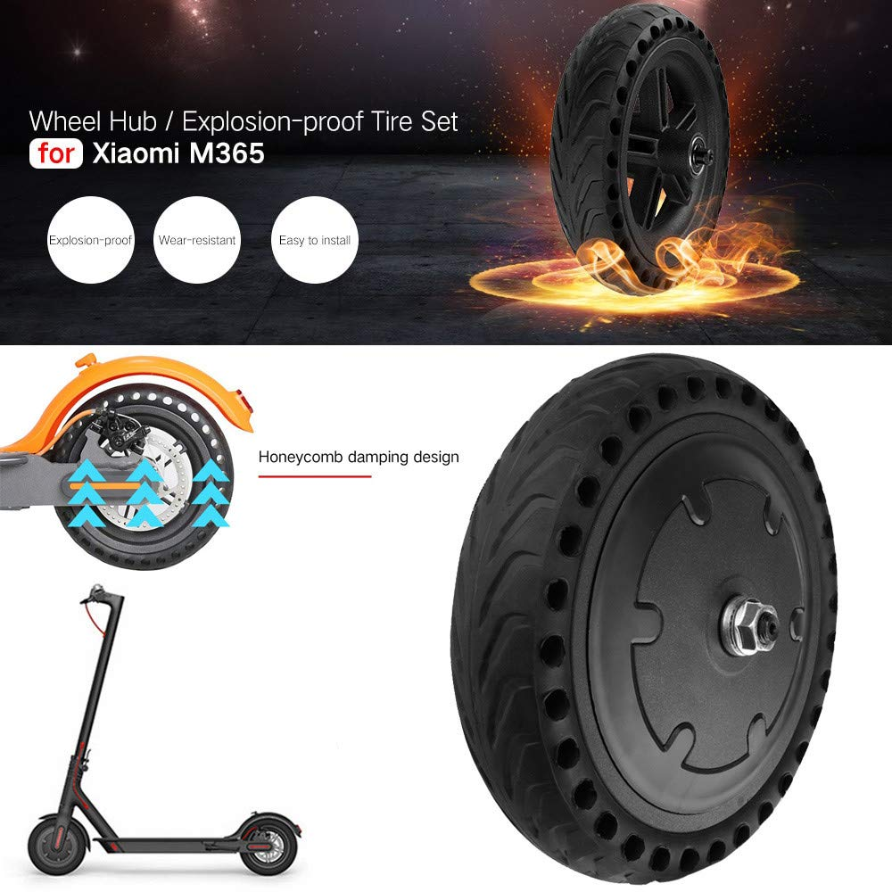 Self Balance Scooters -Explosion Proof Puncture-Proof Wheel Tire Flat Free for Xiaomi M365 Electric Scooter (A) by WuyiMC (Image #2)