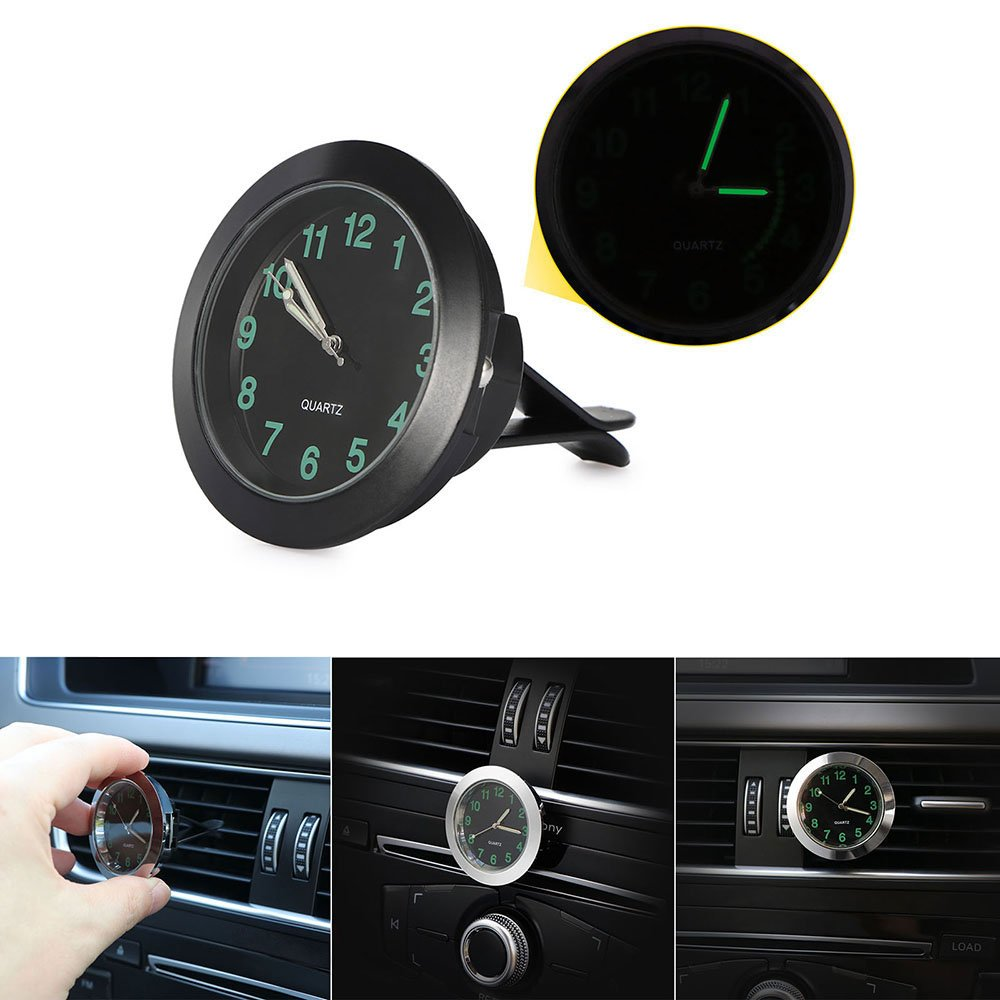 Amazon.com: DDSKY Car Dashboard Clock, Universal Car Air Vent Quartz Clock Auto Interior Watch Luminous Stick-On Clock with Clip Dia.