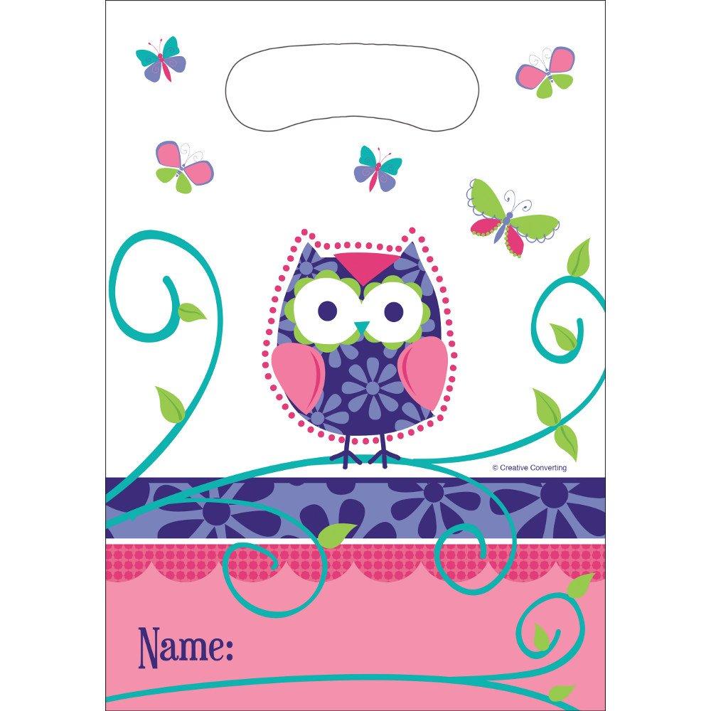 Creative Converting Owl Pal Loot Bags, 8 Count