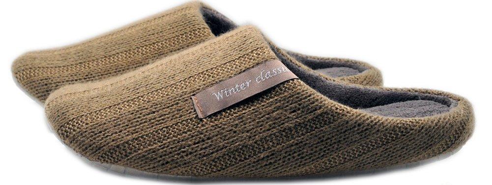 Asifn Coton Hommes Chaussons Maison Pantoufles Hommes Hiver Chaussures Mousse mémoire Doublure Confortable Antidérapant Feutre Hiver Coton Gray 39e5c9c - conorscully.space
