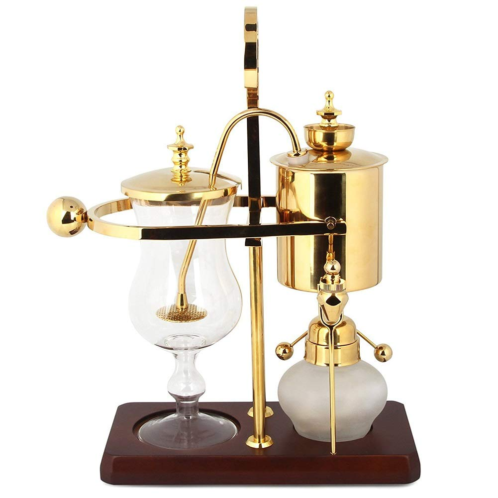 Semi-automatic Coffee Maker Luxury Royal Family Balance Syphon Siphon Coffee Pot Gold Color, 1 Set by LZPQW