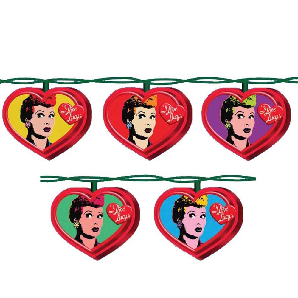 I Love Lucy Kurt Adler UL 10-Light Pop Art Light Set