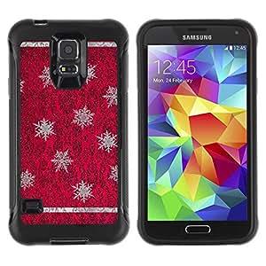Suave TPU GEL Carcasa Funda Silicona Blando Estuche Caso de protección (para) Samsung Galaxy S5 V / CECELL Phone case / / Red Purple Vintage Wallpaper /
