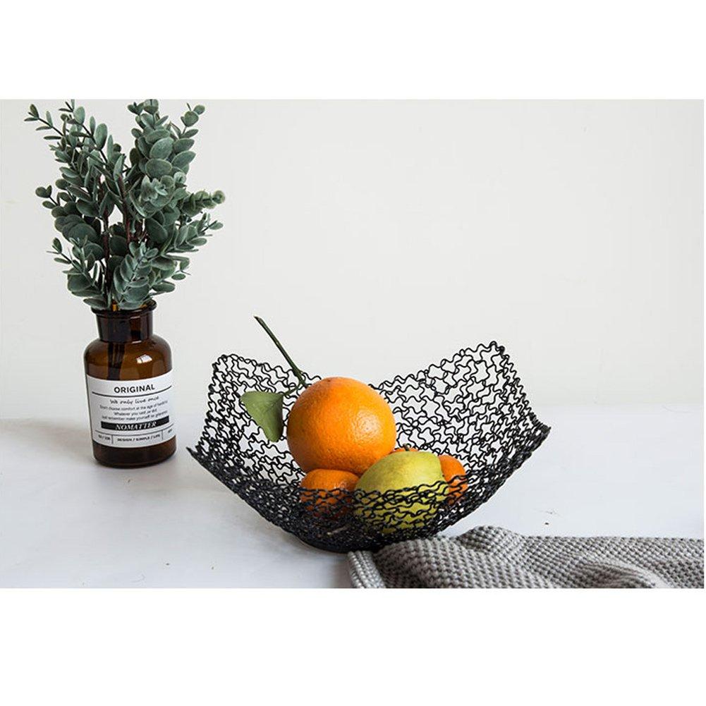 WLHW Fruteros Plato de Cesta de Fruta de Metal con Bandeja de Drenaje (Color : Oro, Tamaño : 22x10cm): Amazon.es: Hogar