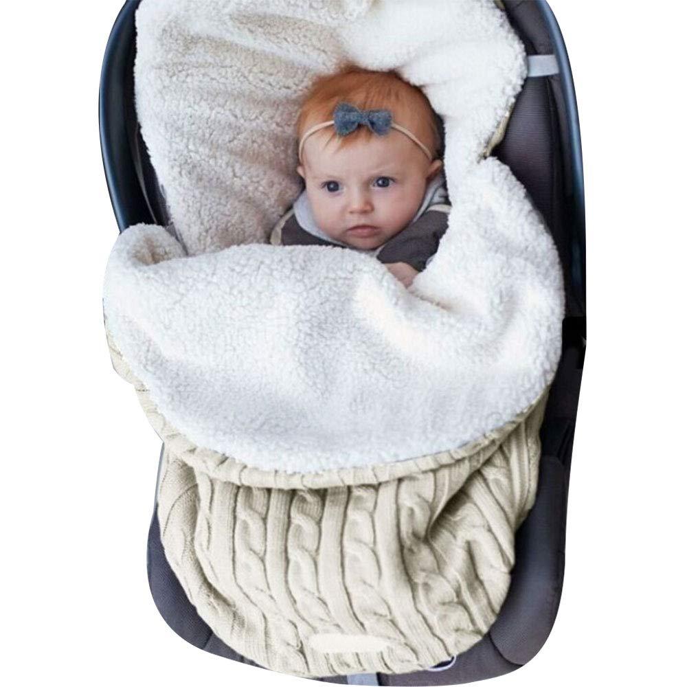Decha Newborn Baby Unisex Winter Warm Swaddle Blanket Wrap Toddler Sleeping Bag Sleep Sack Soft Cushion Stroller Unisex Wrap for 0-12 Month Baby Boys Girls