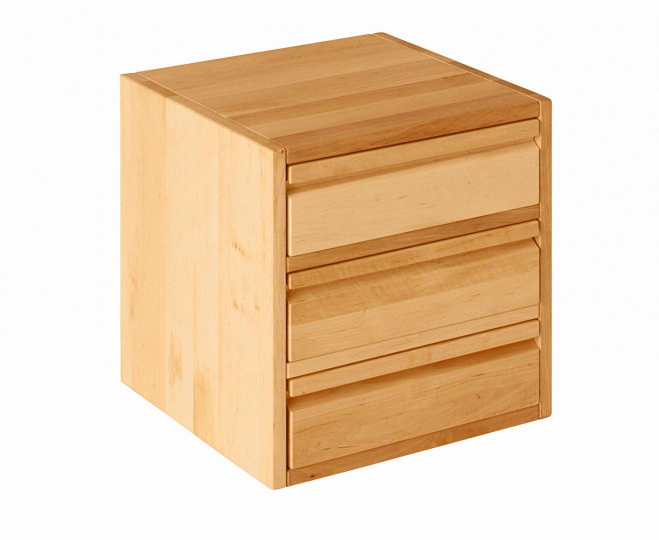 BioKinder 23417 Laura Office Element mit DREI großen Schubladen 40x40x40 cm