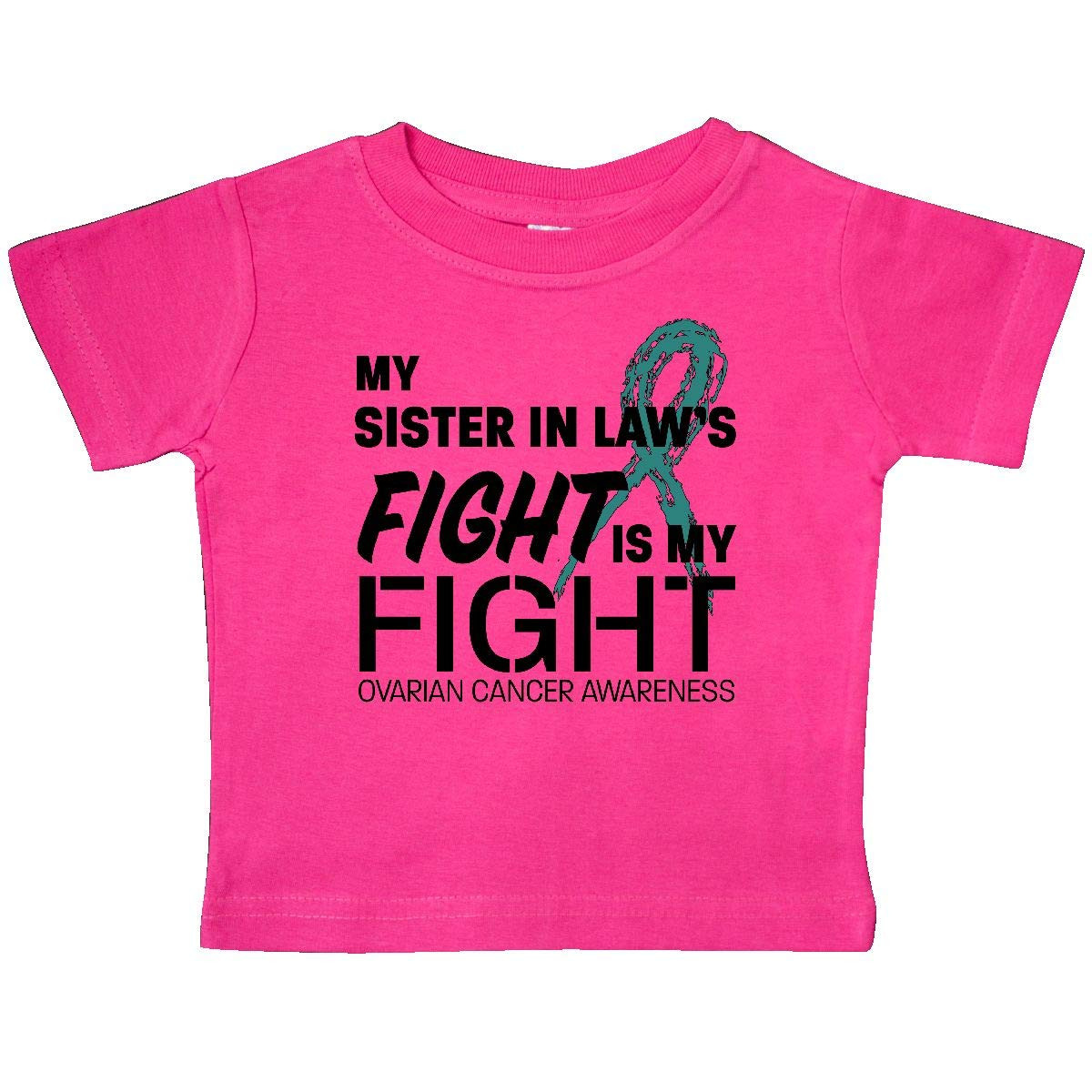 inktastic My Sister-in-Laws Fight is My Fight Ovarian Cancer Baby T-Shirt