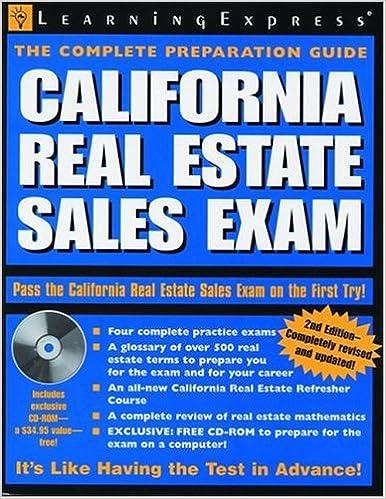 Download online California Real Estate Sales Exam PDF, azw (Kindle), ePub, doc, mobi