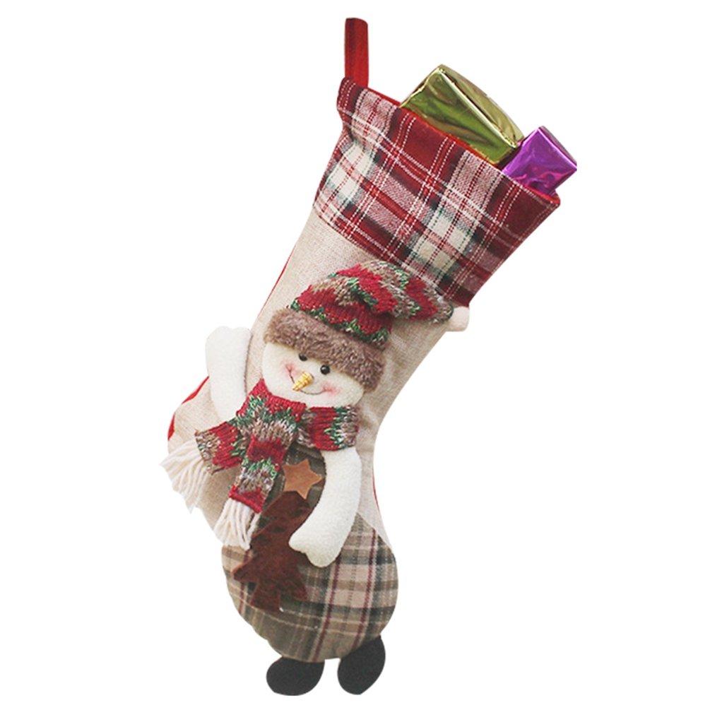YiLianDa Navidad Calcetines Ornamento Del Arbol De Suministros Bolsas Calcetín De Navidad Adornado Decoración De Navidad