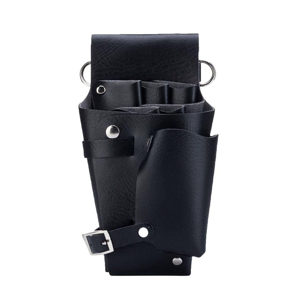 Frcolor Scissor Pouch Holster with Belt Hair Stylist Scissors Holder Pouch (Black)