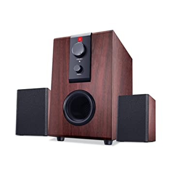 speakers in amazon. iball raaga 2.1 q9 full wood speakers (rosewood) in amazon
