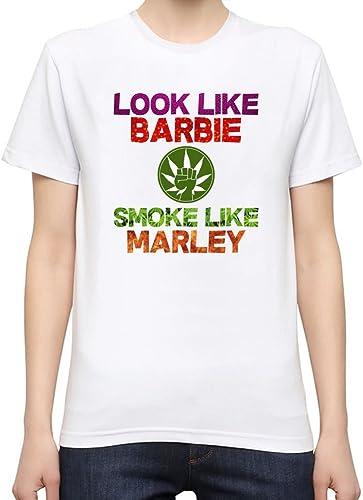 Look Like Barbie Smoke Like Marley Slogan Camiseta Mujeres: Amazon.es: Ropa y accesorios