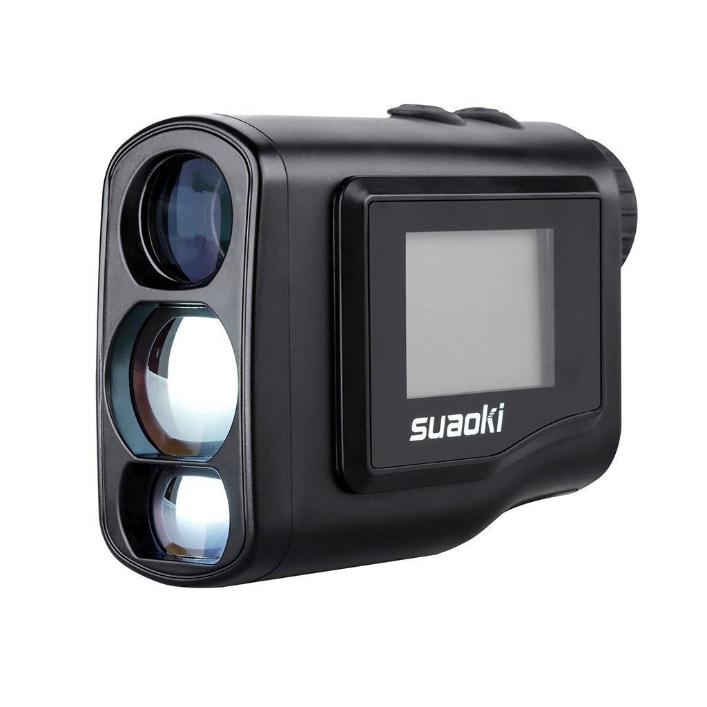 Suaoki m Telémetro Prismático Profesional Monocular Medidor de Distancia Larga LCD Display