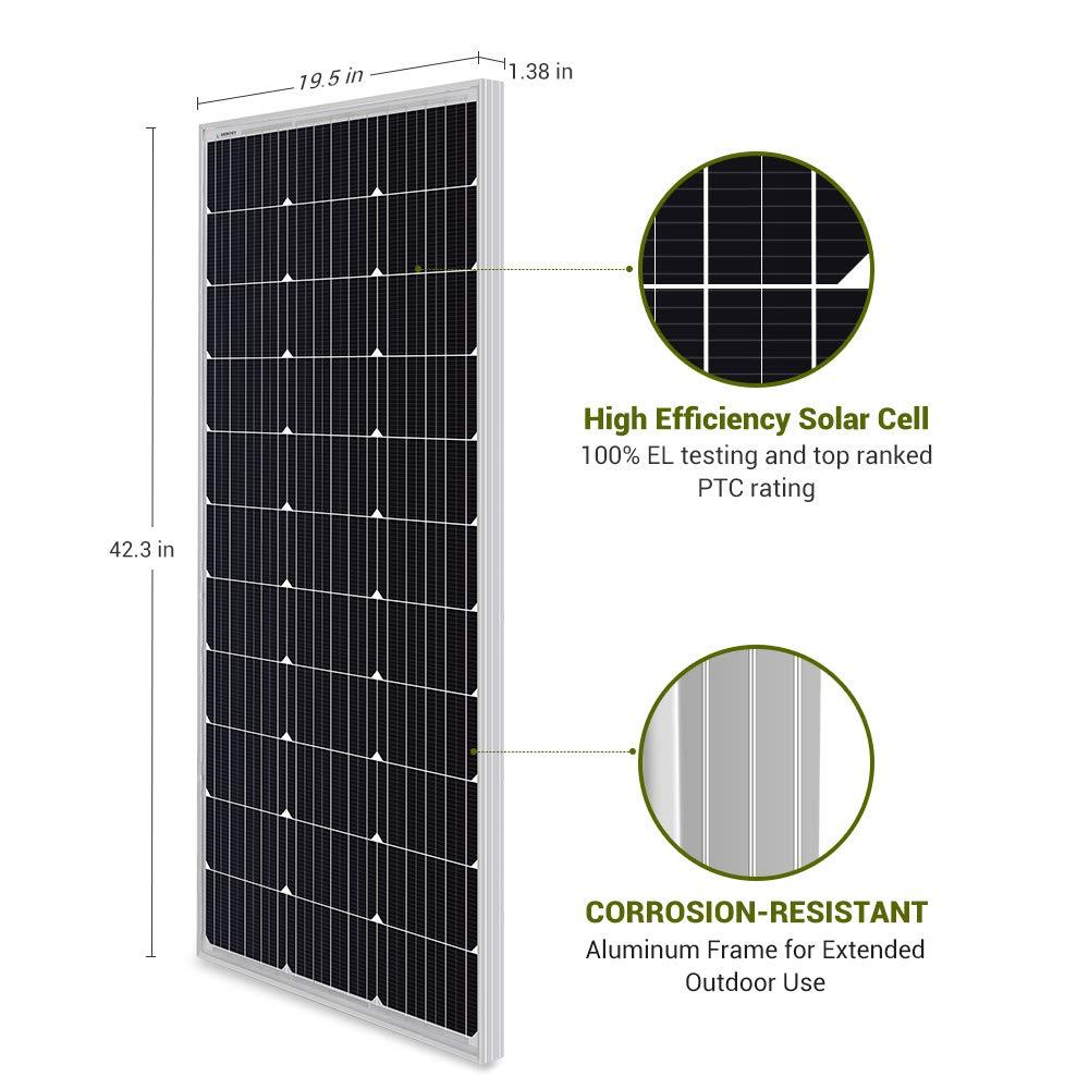 Amazon.com: HQST - Panel solar monocristalino de 100 W ...