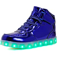 Axcer LED Zapatos Ligero Transpirable 7 Colores USB