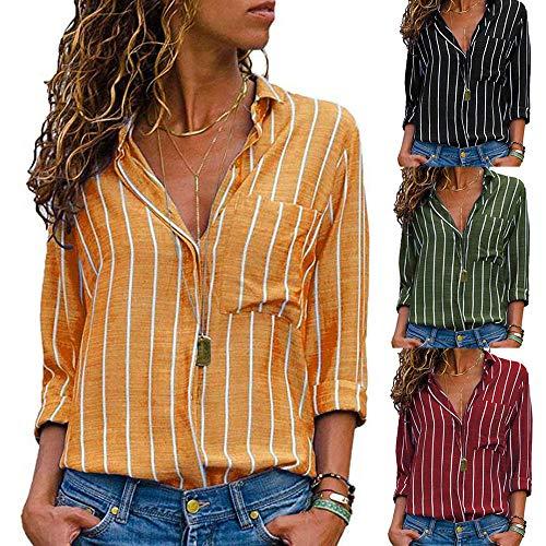 Vtement Femme Chemise Mode lgant Manche Col Longue Chic V Vert Top Sexy Ray Haut SANFASHION nTwAFxpqT