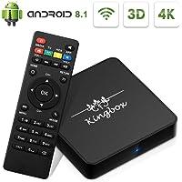 Kingbox Android 8.1 TV Box, Model-x 2GB+16GB /Dual-WiFi/Support 3D/4K(60Hz)/H.265 Smart TV Box