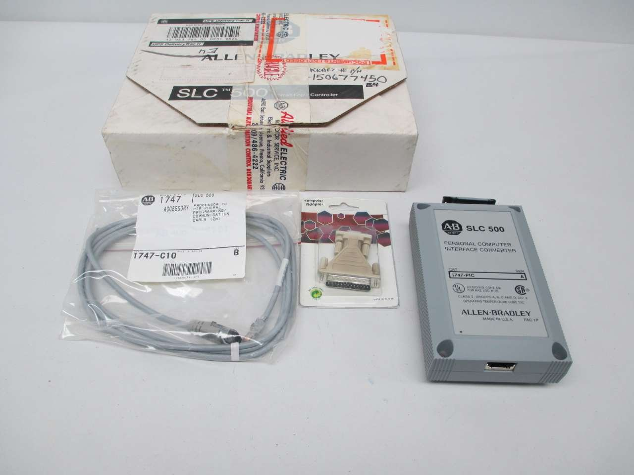 A-B SLC 500 1747-PIC Personal Computer Interface Converter pull from working
