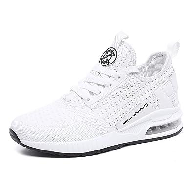 93740e17c22 tqgold® Basket Femme Homme Chaussure de Sport Course Running Fitness Tennis  Mode Sneakers(Blanc