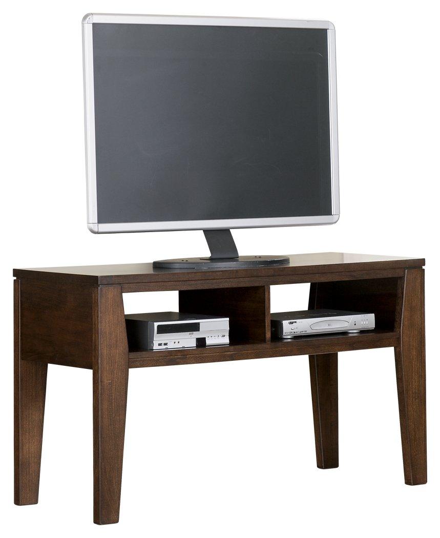 Ashley Furniture Signature Design - Deagan TV Stand - 2 Storage Cubbies - Contemporary - Dark Brown
