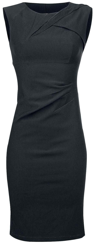 Voodoo Vixen Claudette Mittellanges Kleid schwarz
