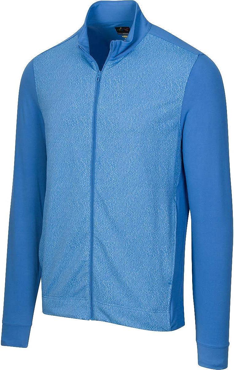 Greg Norman Mens L//S Jacquard Full-Zip Jacket