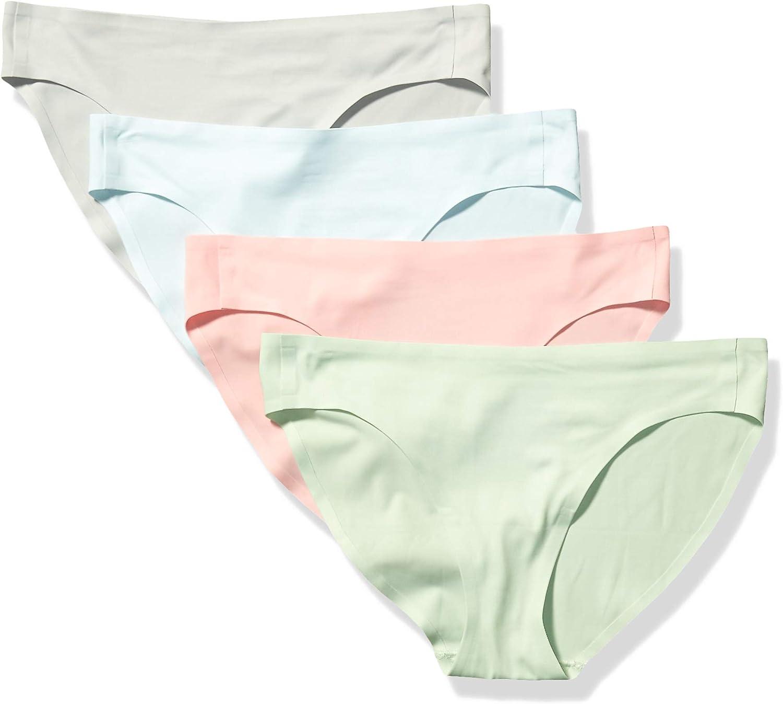 Essentials Damen 4-Pack Seamless Bonded Stretch Bikini Panty