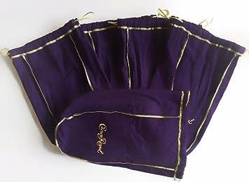 Pack de 5 bolsas grandes morado corona W/Oro Cordón bolsas ...
