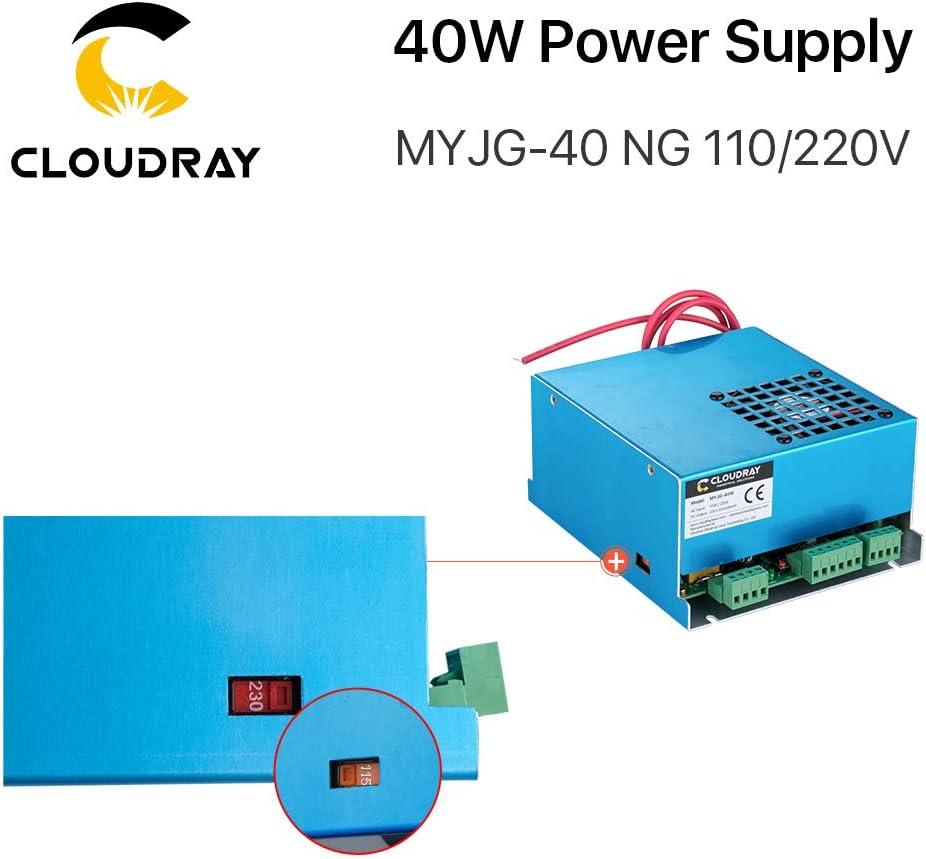 Cloudray CO2 Laser Power Supply 40W 110V//220V MYJG 40 Compre m/ás descuentos