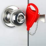 Portable Door Lock for Home and Travel Safety, Travel Lock, Airbub Lock, Childproof Security Lock, Suitable for Home…
