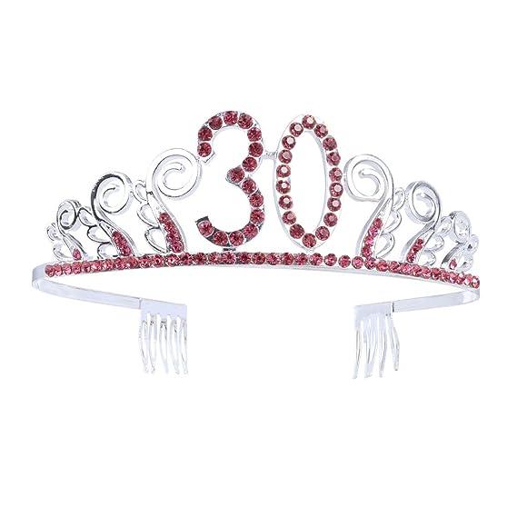 Frcolor Corona Cumpleaños 30 Años Diadema Cumpleaños Mujer ...