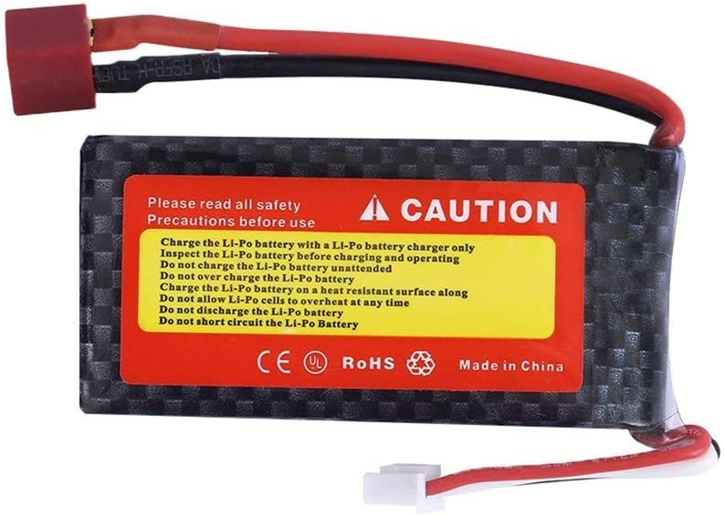 A Lion 11.1V 3S 1200mAh 25C Lipo Battery Power for RC Helicopter 3D Airplane Black 25C