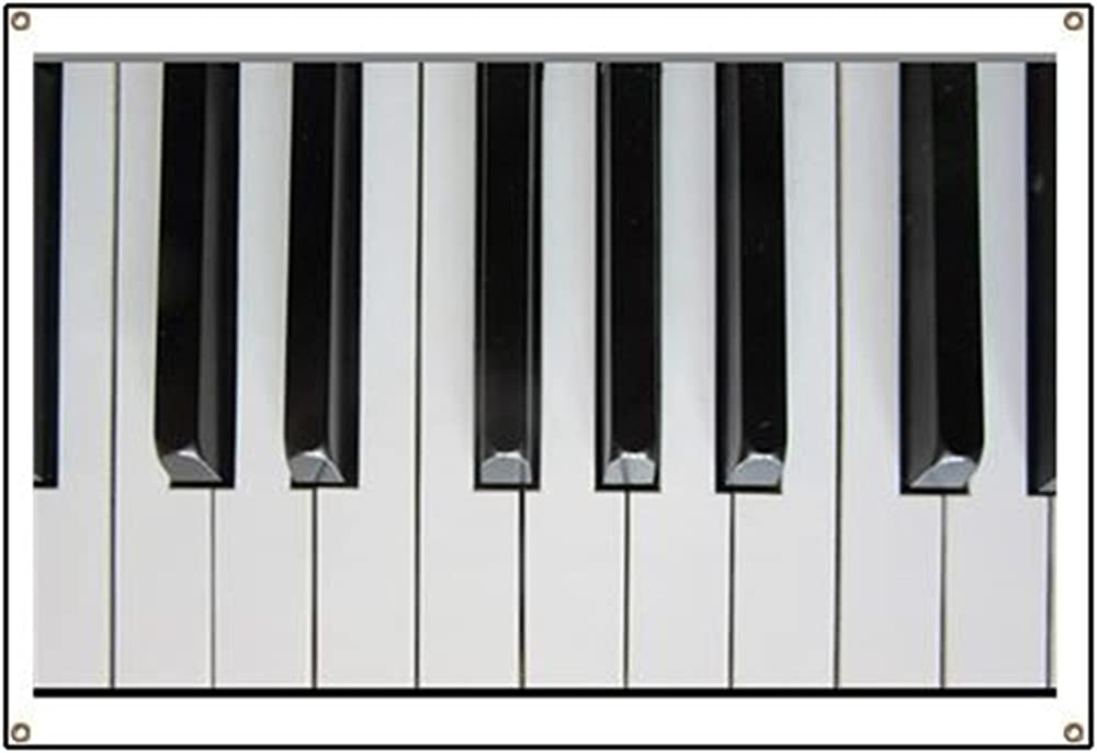 Amazon Com Banner Piano Keys Up Close And Musical White Clothing