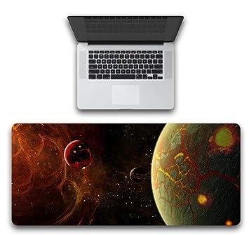Yiiuii Alfombrilla De Ratón Red Crack Planet 800X300X3Mm ...