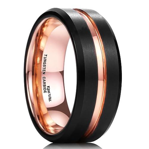 Mens Gold Wedding Band | Black Gold Wedding Bands Amazon Com