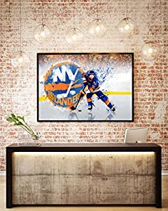 NY Islanders artwork on canvas