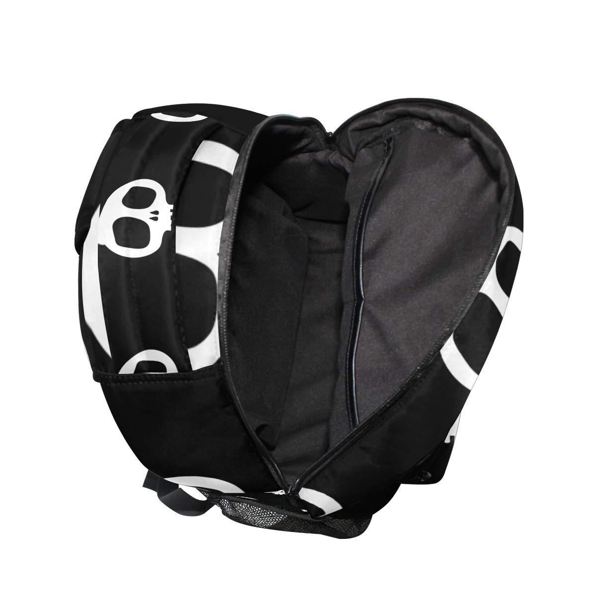 FAJRO- Mochila de Viaje, diseño de Esqueleto, Esqueleto, Esqueleto, Color Blanco y Negro 451e1d