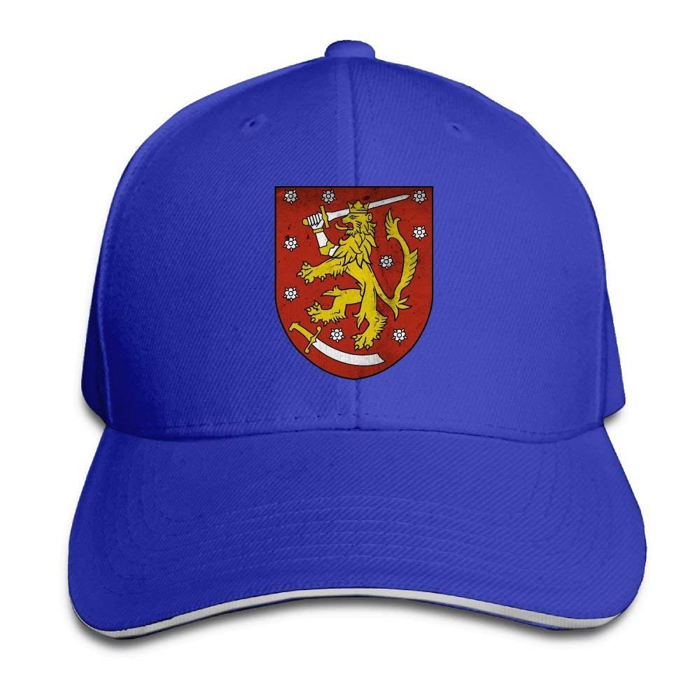 JTRVW Coat of Arms of Finland Unisex Washed Retro Adjustable Cowboy Hat Baseball Cap Multicolor55