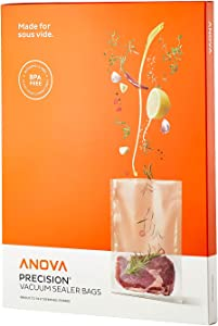 Anova Culinary ANVB01 Anova Pre-Cut Sous Vide Vacuum Sealer bags, One size, Clear