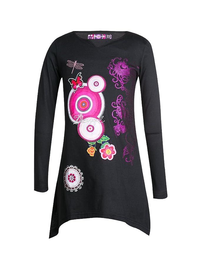 3 opinioni per Desigual- TS_HAWAI, T-shirt per bambine e ragazze, nero (schwarz (grafito