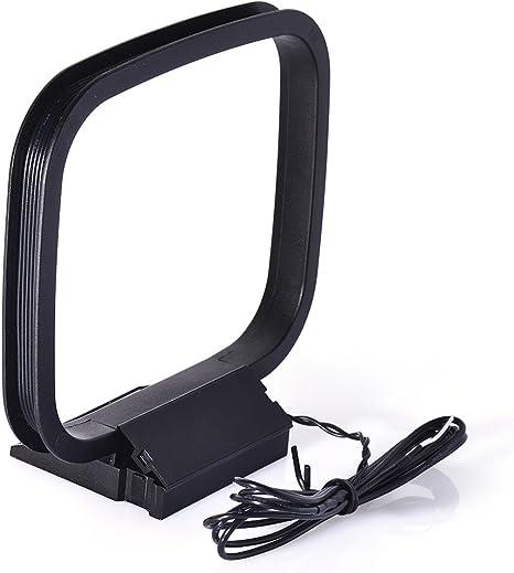 Bingfu Interior Am Bucle Antena con 2 Conectores de Cable Desnudo para HiFi Pioneer Oenon Panasonic Onkyo Sony Bose Sherwood Yamaha JVC Onkyo Receptor ...