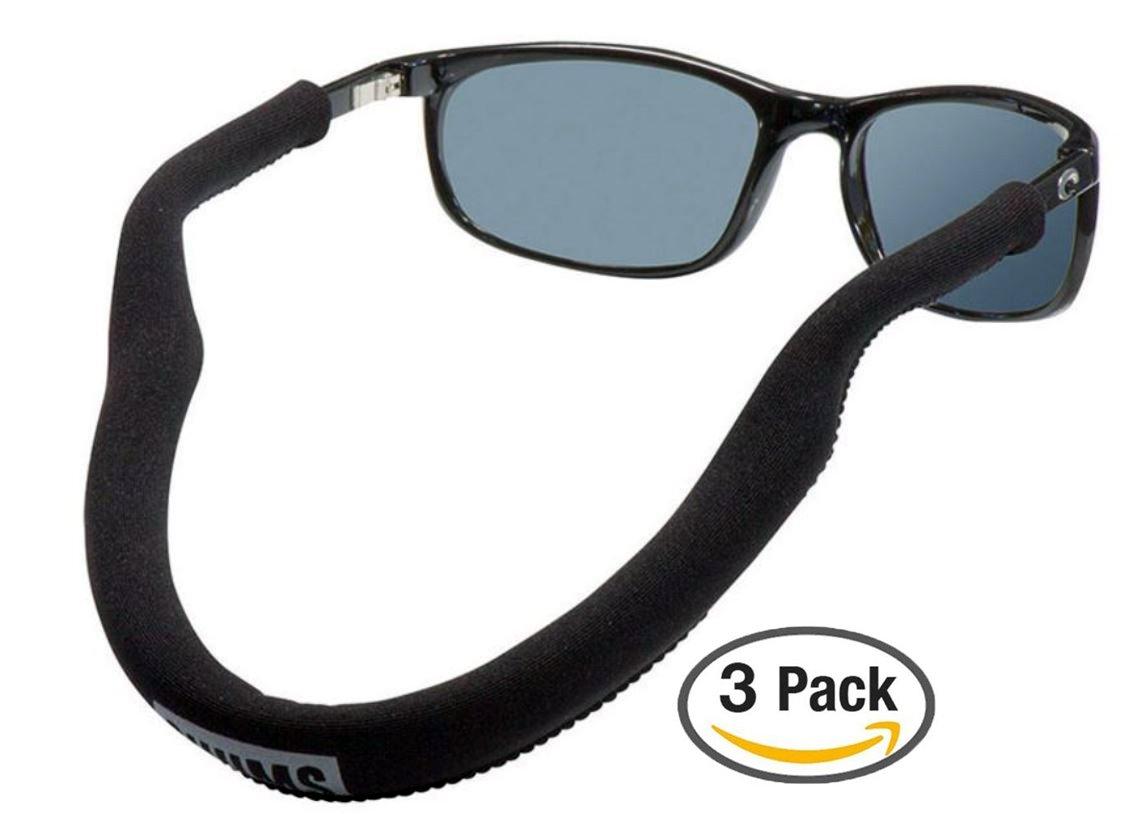 Chums Floating Neo Eyewear Eyewear Retainer, Black (3 Pack)