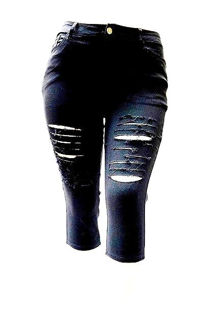 Amazon.com: Pantalones vaqueros KB26 para mujer, talla ...