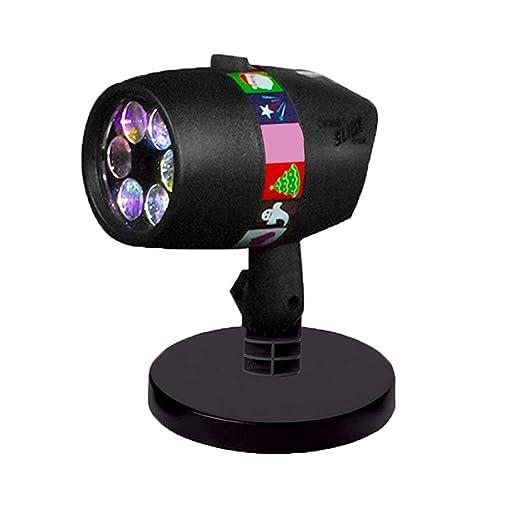 AIBAB Lámpara de proyección de Copo de Nieve LED, 12 Patrones ...