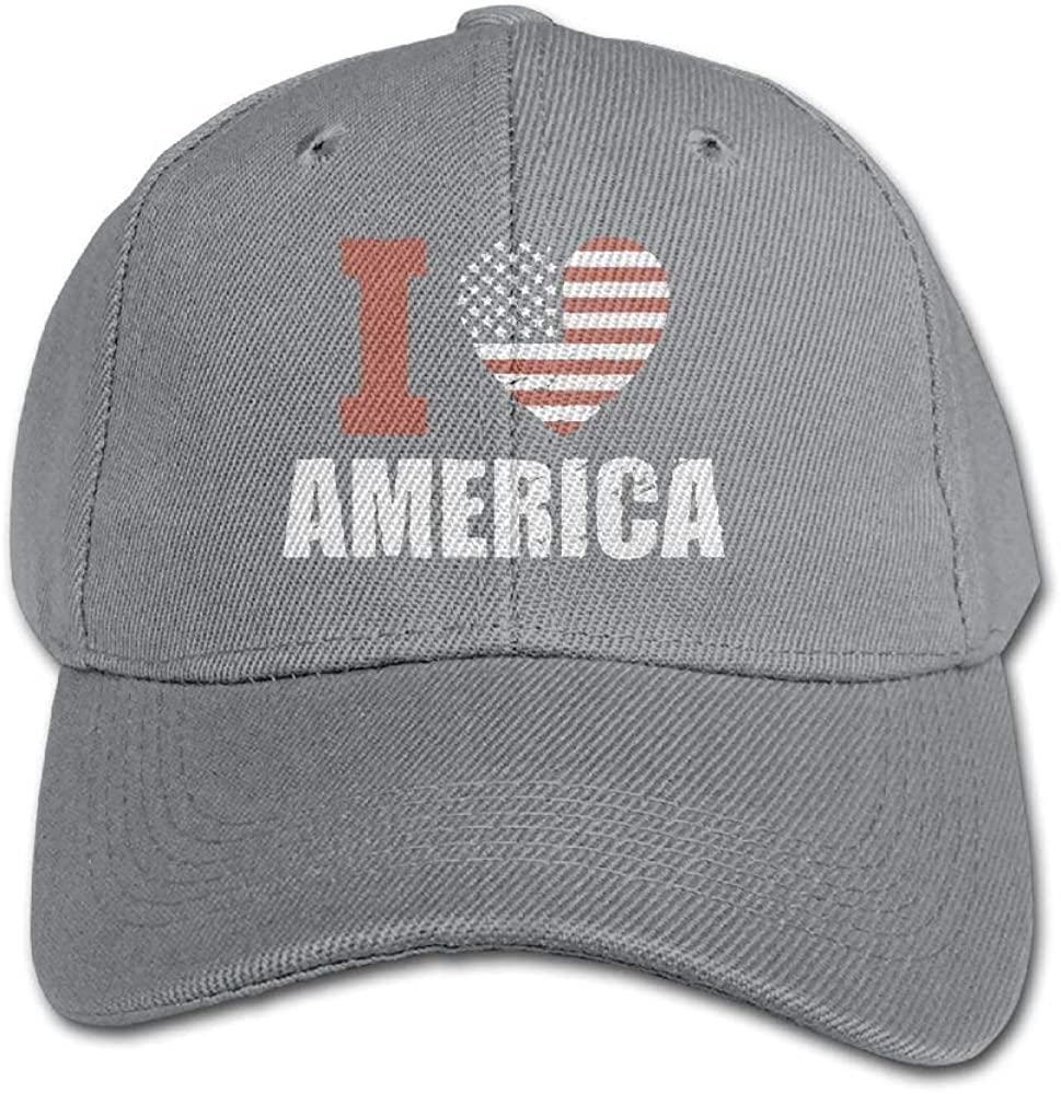 FAVIBES Amo la Gorra de béisbol Americana de Color Puro Algodón ...